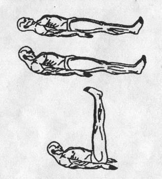 Пять тибетских жемчужин - упражнение 2